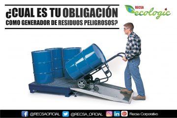 obligación como generador de residuos