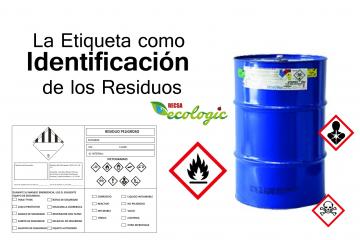 etiqueta como identificacion de los residuos