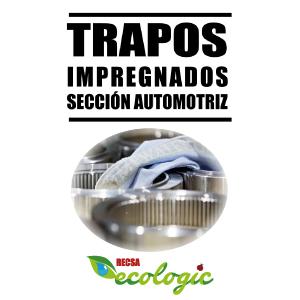 TRAPOS IMPREGNADOS SECCIÓN AUTOMOTRIZ